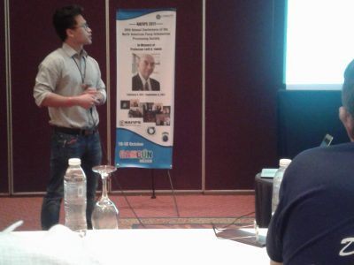 Davin Kaing presenting at the North American Fuzzy Information Processing Society Annual Conference in Cancun