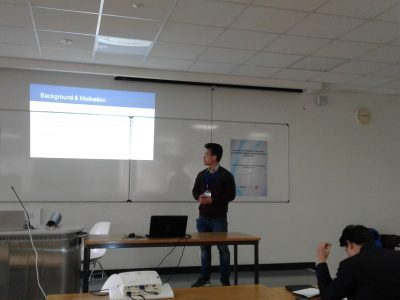Davin Kaing presenting at the second International Conference on Knowledge Engineering and Applications in London