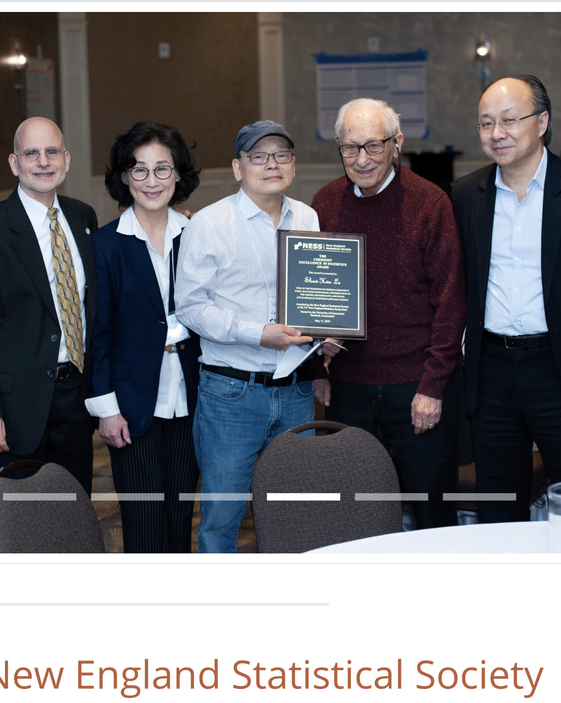 Congratulations to Professor Shaw-Hwa Lo for being the inaugural recipient of The Chernoff Excellence in Statistics Award.