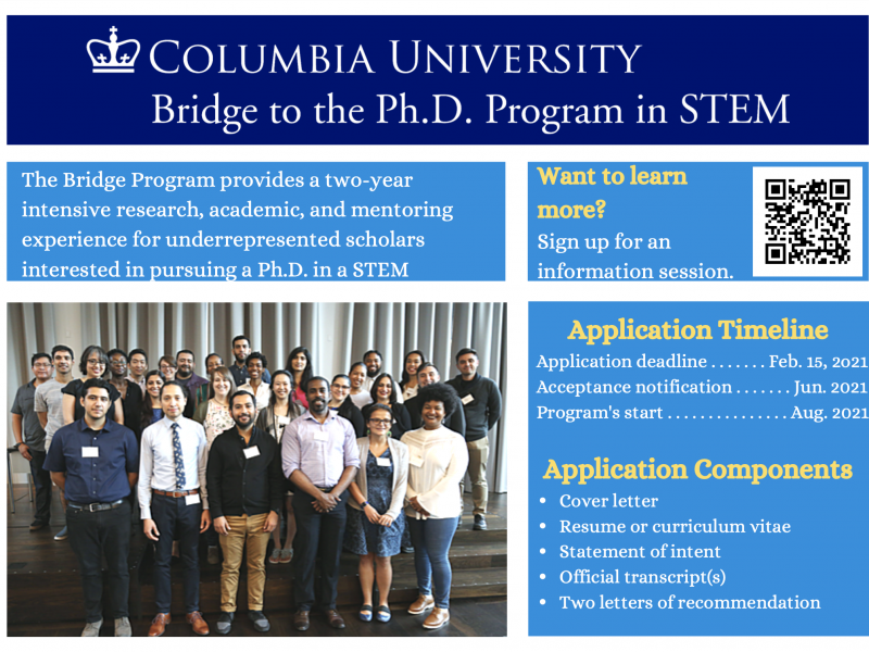 Application Now Open: Bridge to the Ph.D. Program in STEM