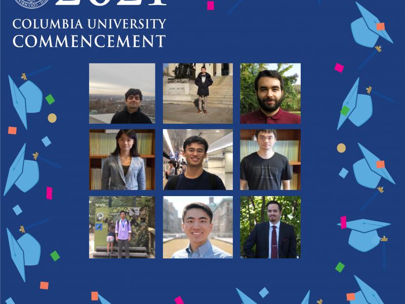 Congratulations to our 2021 Ph.D. Graduates!