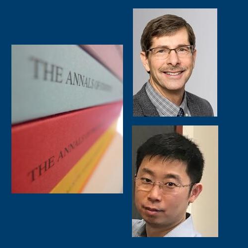 Professors Richard. A. Davis and Jingchen Liu complete the IMS Annals Quadfecta