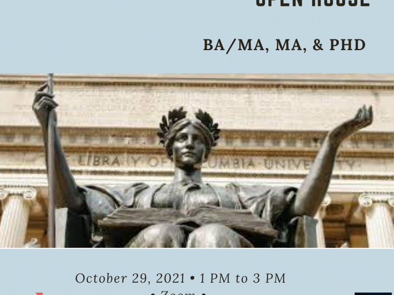 Statistics Open House - Friday, Oct. 29